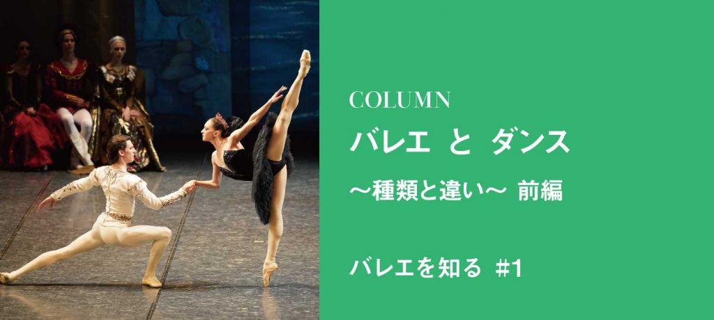 バレエとダンス~2つの踊りは、どう違うのか?~ (前編)